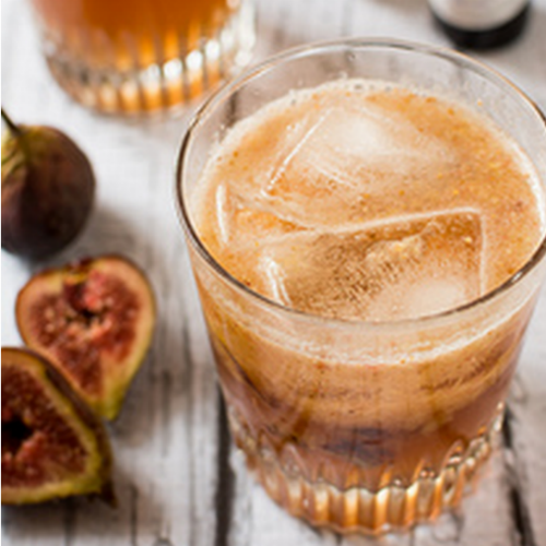 Figgy Maple Bourbon Fizz from Cheese and Choco plus 31 Holiday Cocktails for Adults on Frugal Coupon Living.
