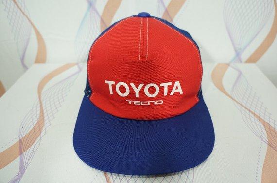 0c10fa0906fe4 Vintage 80s 90s Toyota Tecno Adjustable Cap Hat   vintage toyota cap    toyota hat   racing cap   rac