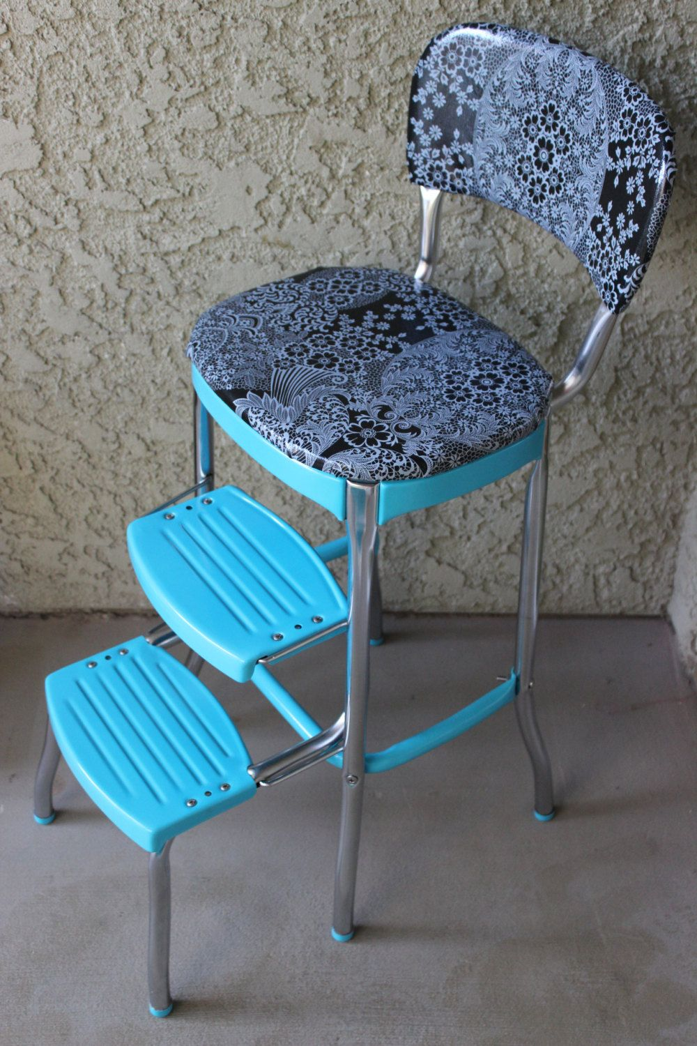 1950 S Turquoise Blue Cosco Step Stool By Bittybowling On Etsy