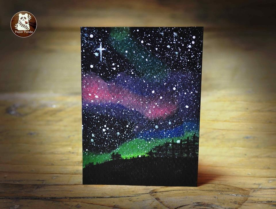Hand painted ACEOs - because sometimes you just need a little space. Each spaceo depicts it's own unique night sky scenery. With pretty colourful auroras, meteors and a multitude of tiny stars, these little pieces of space are the perfect addition to any room. Painted using a variety of fine artist acrylic paints in matte, gloss and iridescent finishes.  Each one is unique due to the hand painted nature but all follow the same theme. Please see pictures for examples. These w...