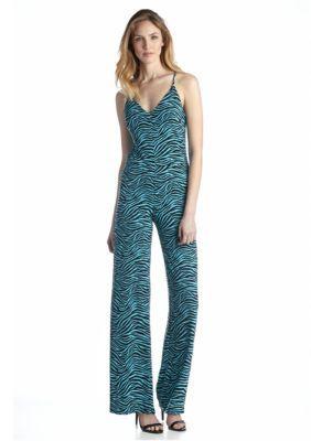 MICHAEL Michael Kors  Zebra Print Wide Leg Jumpsuit