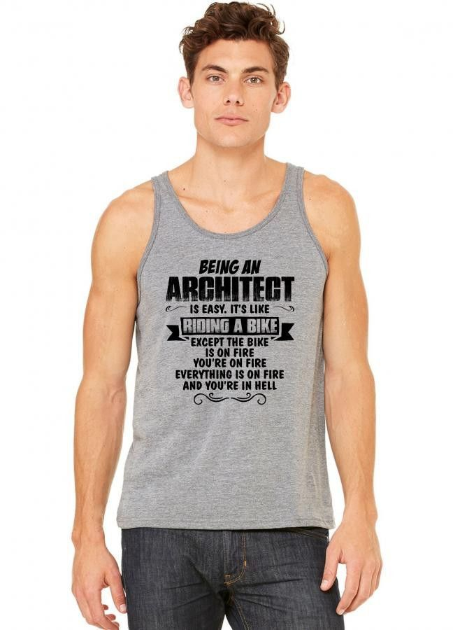 being an architect copy tank top