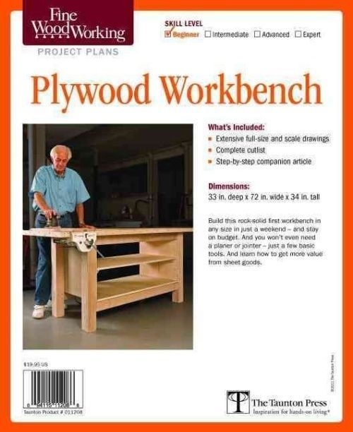 Plywood Garage Cabinet Plans: NEW Fine Woodworking's Plywood Workbench Plan By Fine