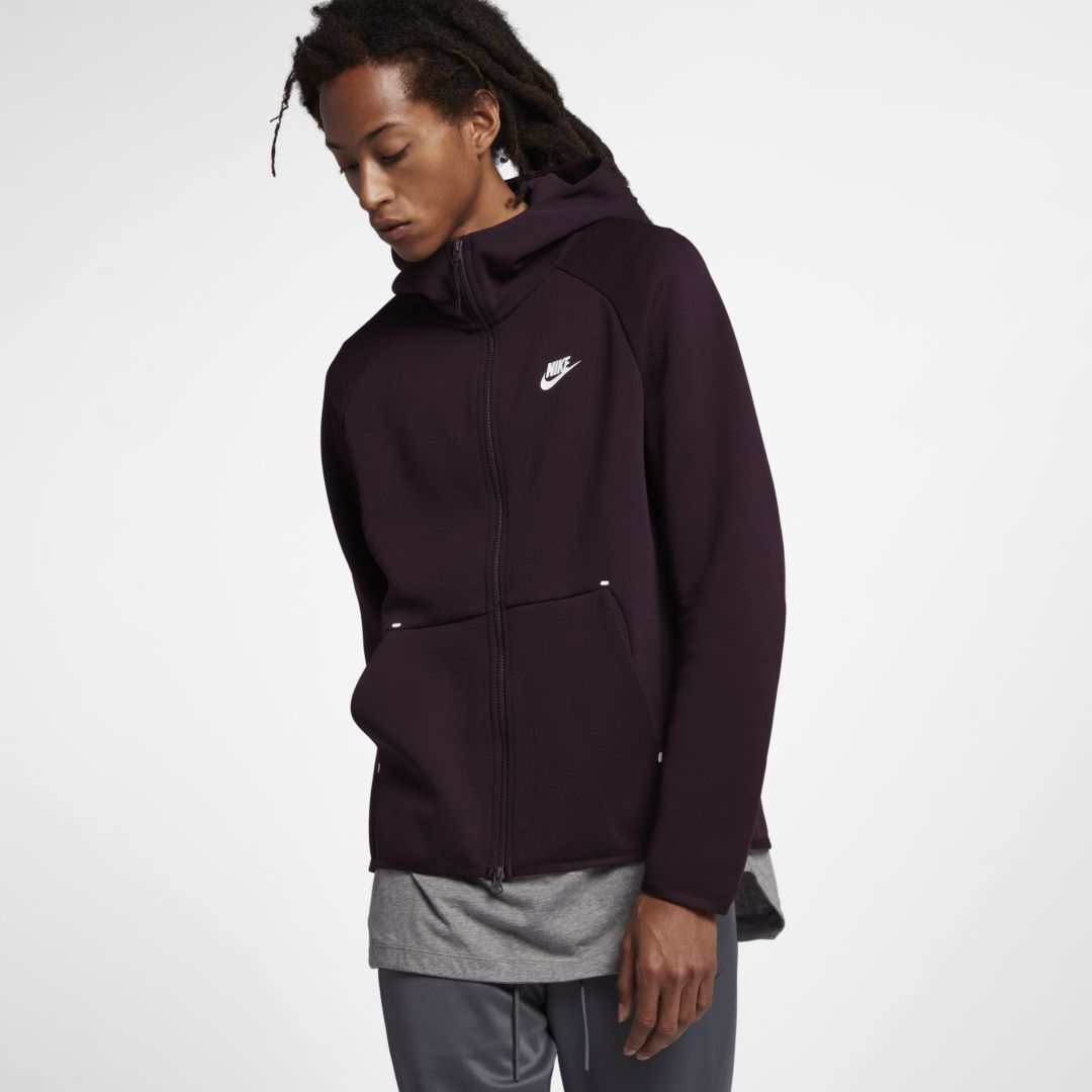 8cd05153e7f804 Nike Sportswear Tech Fleece Men s Full-Zip Hoodie Size 3XL (Burgundy Ash)