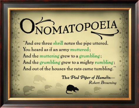 Onomatopoeia Example Education Literary Devices Pinterest