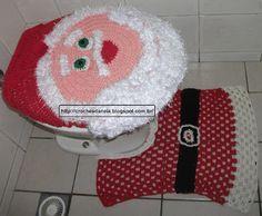 Crochês da Néia: Jogo de Banheiro - Papai Noel