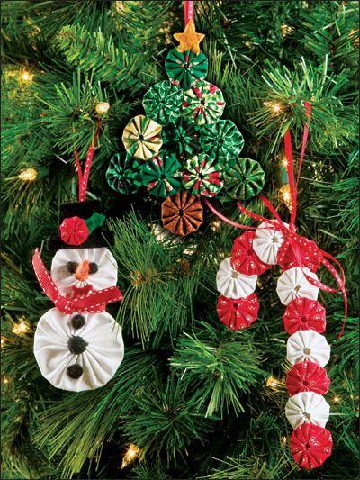 Misc ornaments from yo yo quilting booklet YoYo Crafting