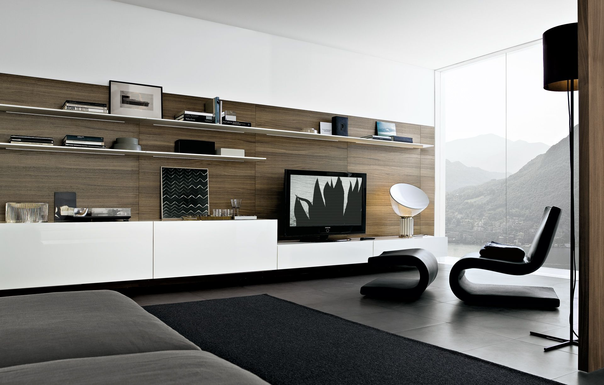 Wall Cabinets Living Room Furniture Poliform Sintesi Media Unit Interior Pinterest Shelving