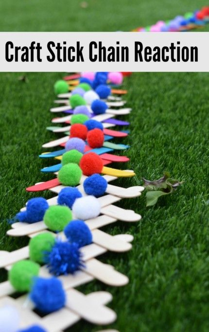 Craft Stick Popsicle Stick Chain Reaction Science