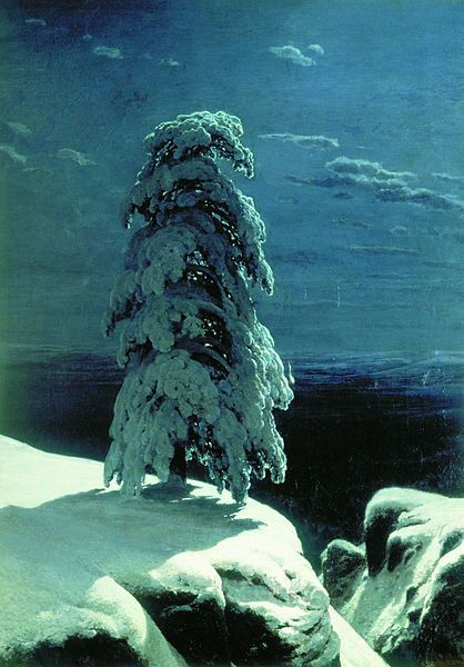 "Winter Wonderlands in Art  Ivan Shishkin's ""In the Wild North""  The Griswald family Christmas tree, courtesy of Ivan Shishkin.    Ivan Shishkin, ""In the Wild North,"" 1891, oil on canvas, 161 cm (63.4 in) x118 cm (46.5 in), Museum of Russian Art in Kiev"