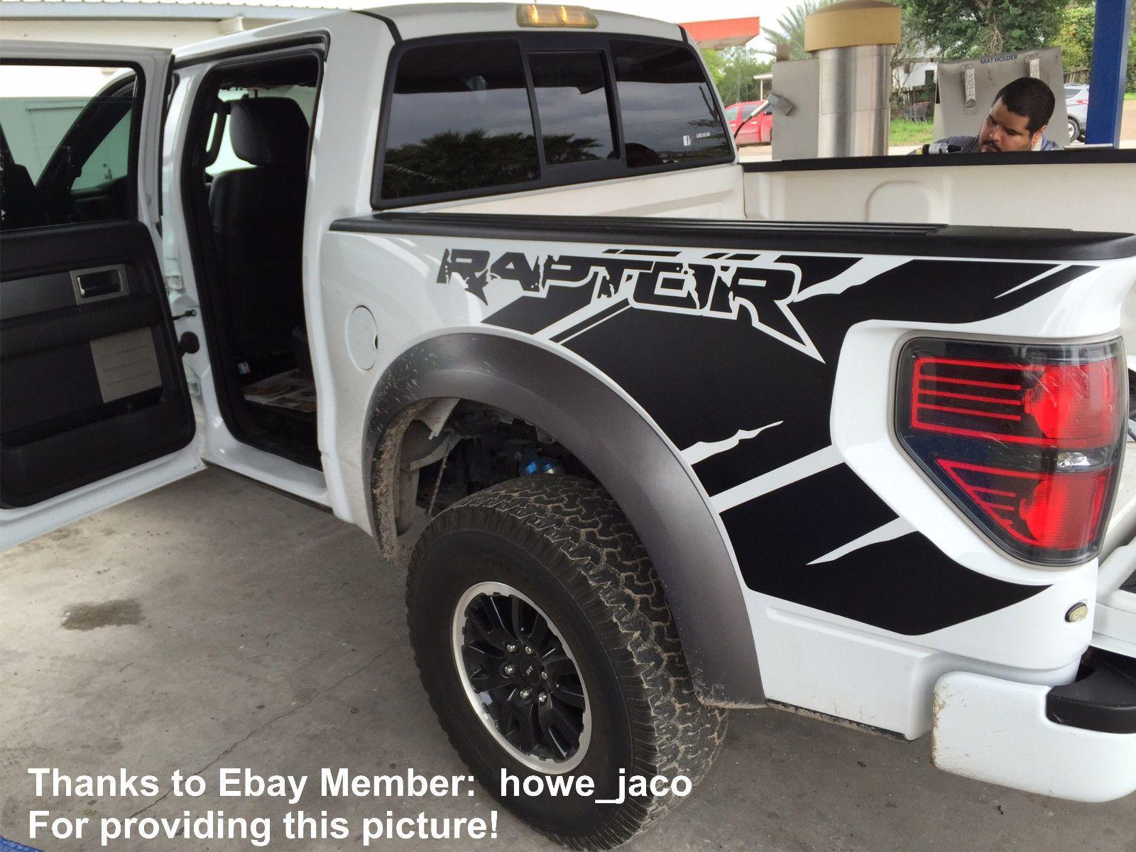 Ford RAPTOR SVT Side Bed Truck Decals Vinyl Graphic Sticker fits 2010-2014