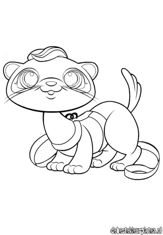 Lps Ferret Animal Coloring Pages Butterfly Coloring Page
