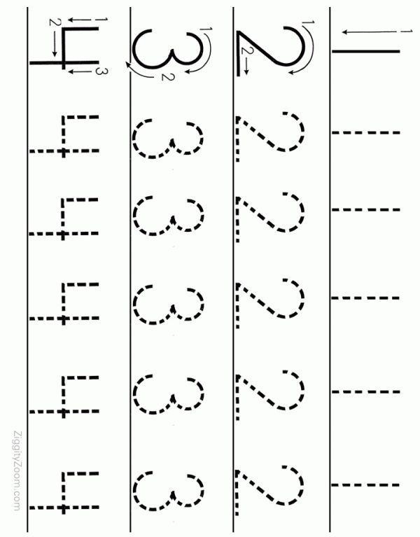 number tracing worksheet numbers  to   teaching preschoolers and  alphabet worksheets for preschoolers  printable number tracing worksheet  for preschoolers print and let