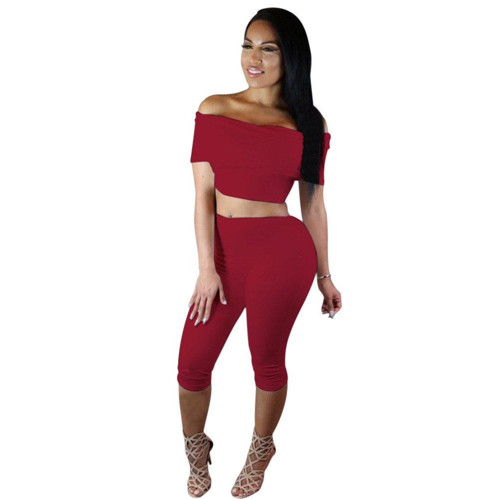two piece outfit jumpsuit short pants with crop top