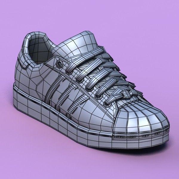 excellent black sports shoes 3d model - Sports shoes #02 black... by Gametexture