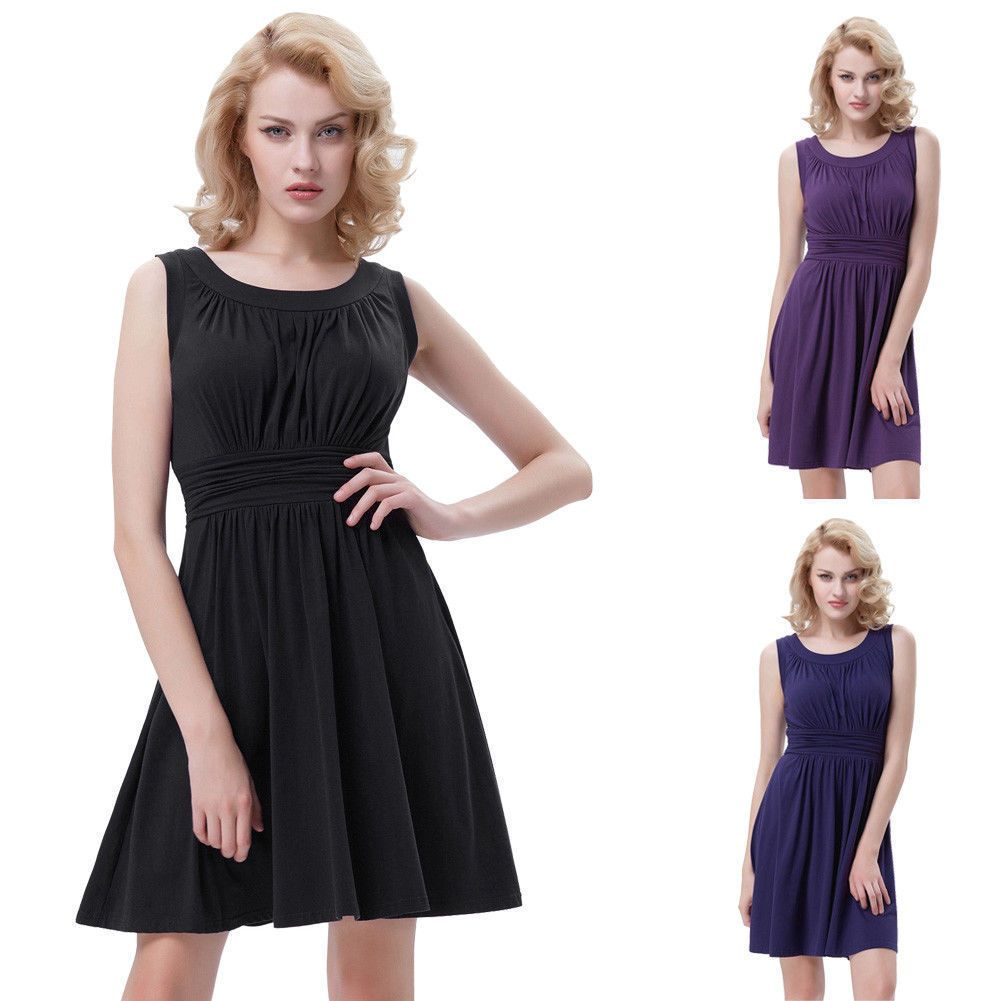 Womenus elegant s s cocktail dress formal evening party swing a