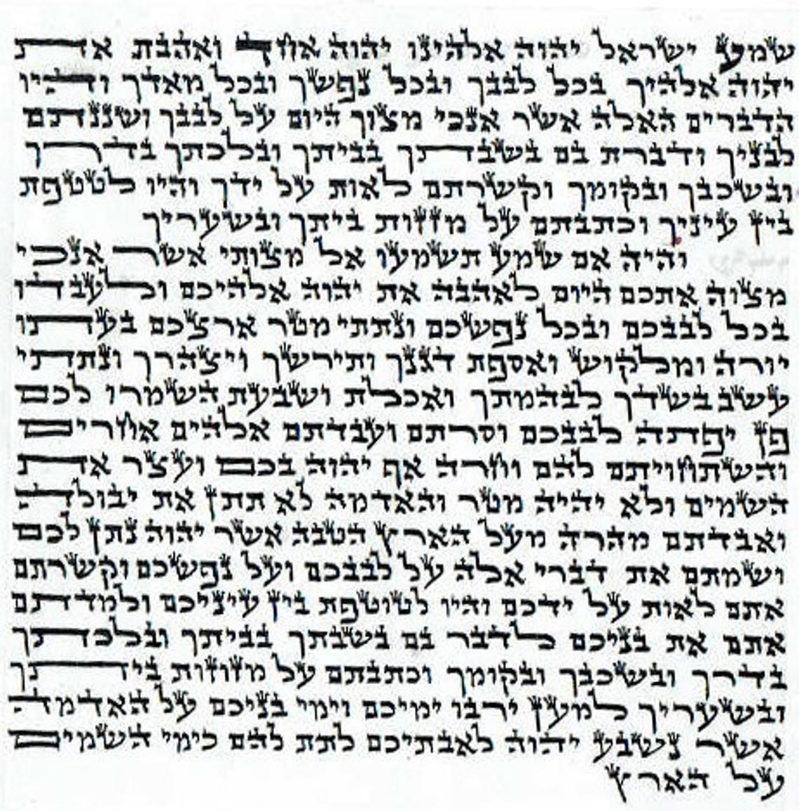 Mezuzah Scroll Kosher Parchment With Haari Font Ketav Stam