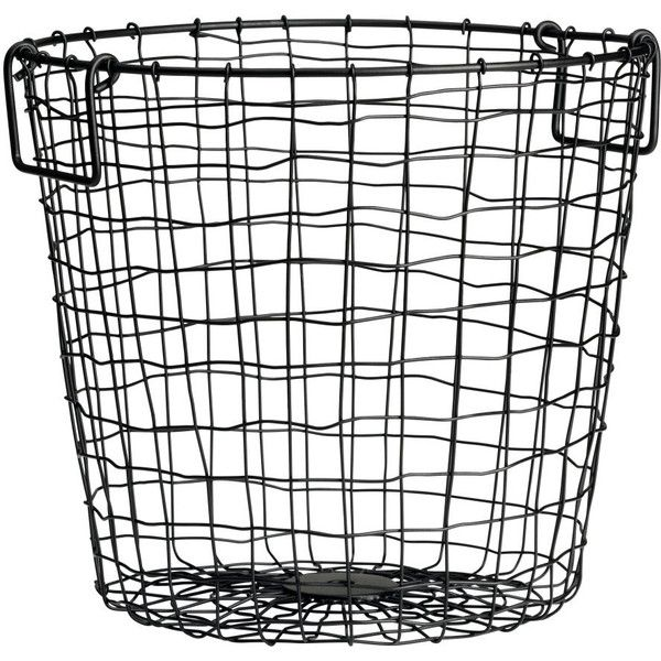 Hu0026M Large Wire Basket (58 BRL) ❤ Liked On Polyvore Featuring Home, Home  Decor, Small Item Storage, Decor, Basket, Filler, Black, Wire Home Decor,  Wire ...