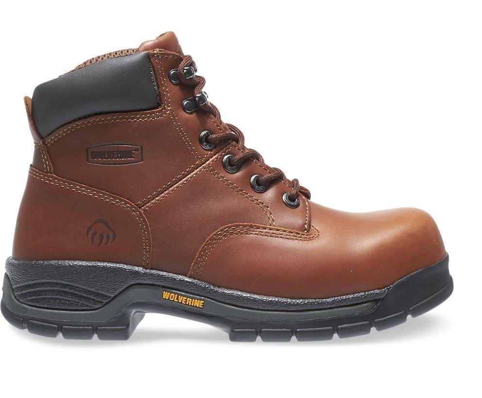 Wolverine Men S Harrison Lace Up Steel Toe 6 Work Boots Steel Toe Work Boots Steel Toe Boots Work Boots Men