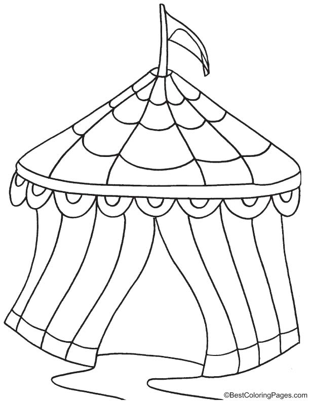 Circus Tent Coloring Page Circus Tent Coloring Pages Coloring Pages For Kids