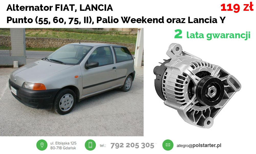 Alternator Fiat Punto 60 65 Punto Ii 1 1 1 2 Palio 6333779916 Oficjalne Archiwum Allegro Fiat Alternator Suv