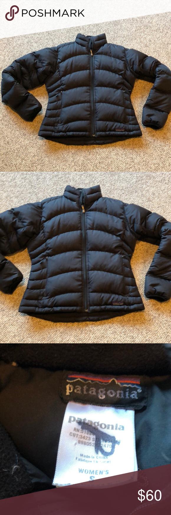 Patagonia Black Goose Down Puffer Jacket Sz Small Black Puffer Puffer Jackets Patagonia Jacket [ 1740 x 580 Pixel ]