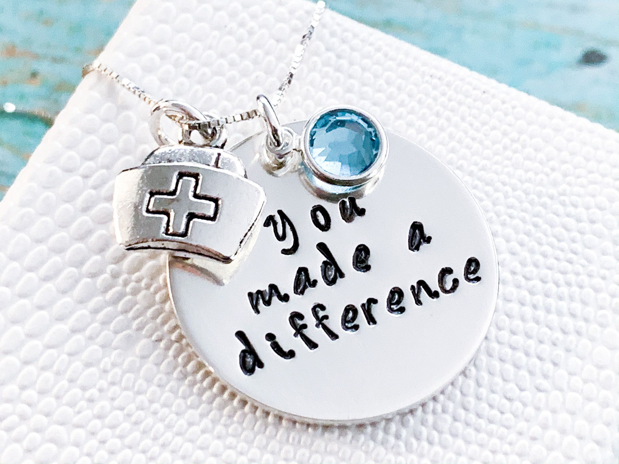 Nurse gift necklace you made a difference inspirational