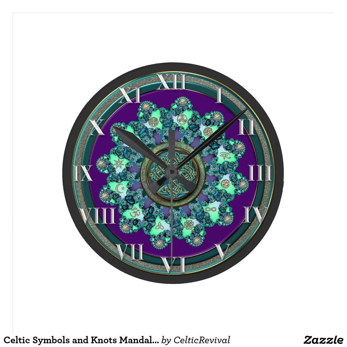 Celtic symbols and knots mandala clock symbols and clocks