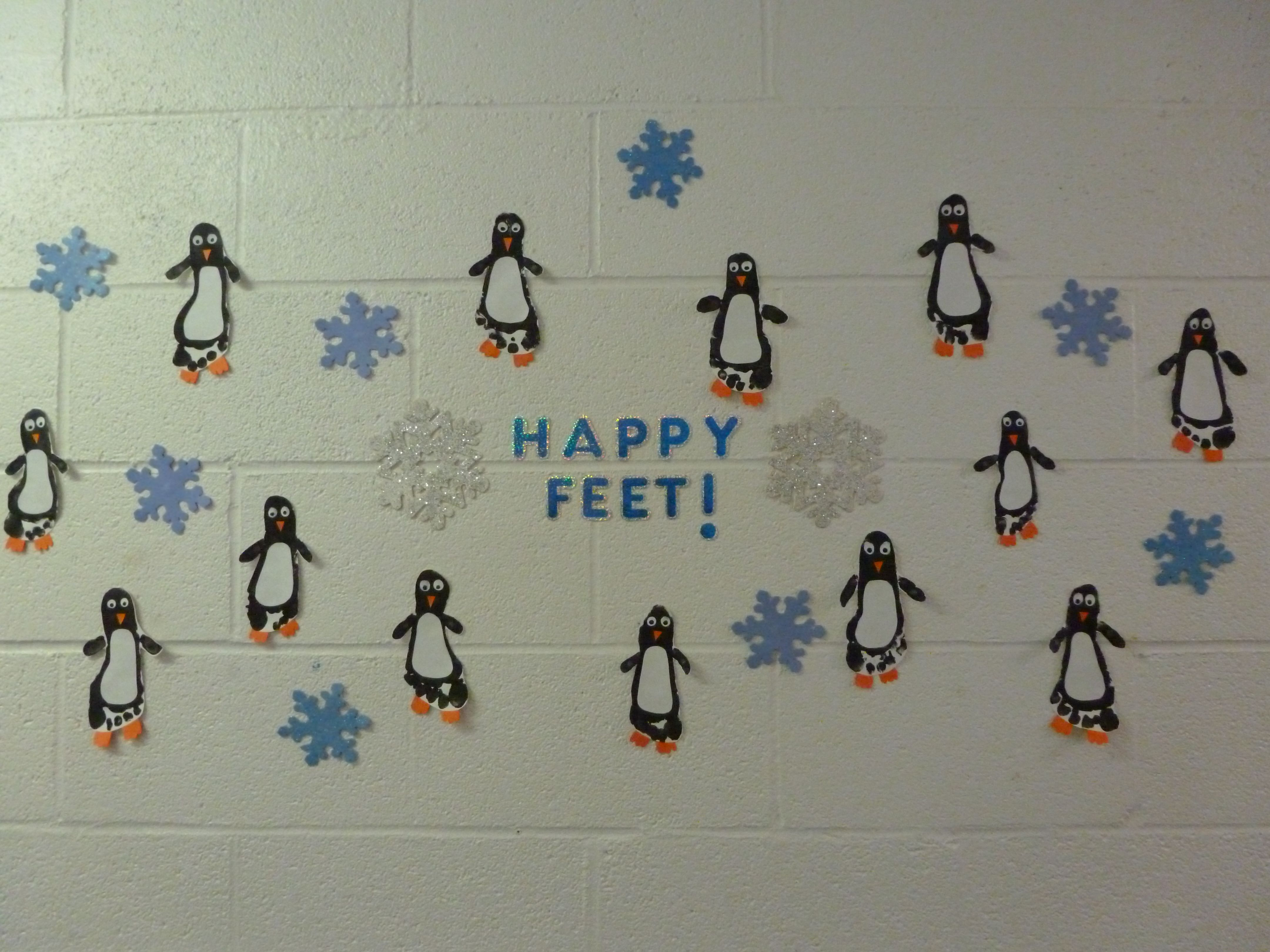 A Cute Penguin Bulletin Board I Did This Winter