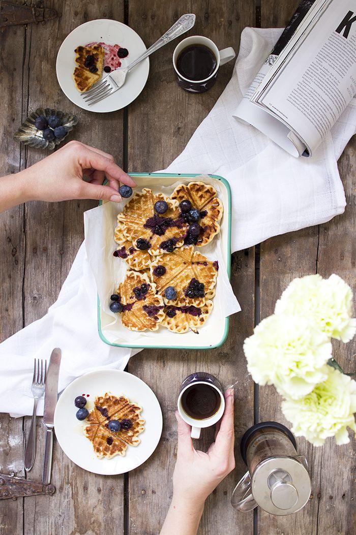 Gluteenittomat tattarivohvelit // Gluten free buckwheat waffles