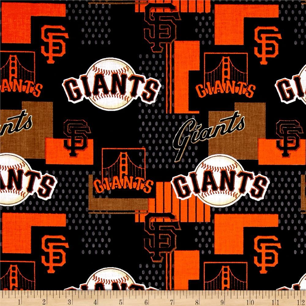 Cheer On The San Francisco Giants With This Mlb Cotton Print Perfect For Use In Quilting Projects Tailga San Francisco Giants Mlb San Francisco Giants Giants