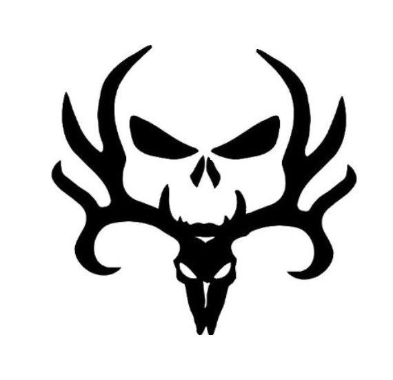 Skull Deer Punisher Head Browning Amazon Decal Vinyl - Browning vinyl decals