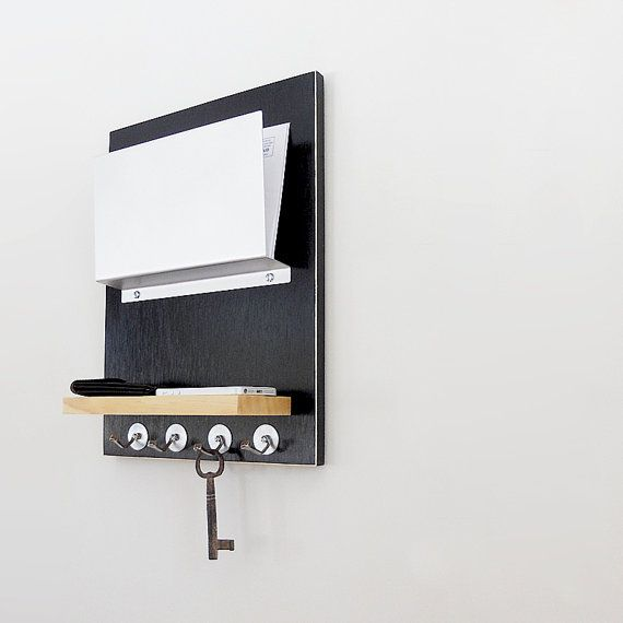 For Him Organizer Man Cave Father S Day Dad Modern Wall Mount Organizer Mail Holder Organization With Key Hooks And