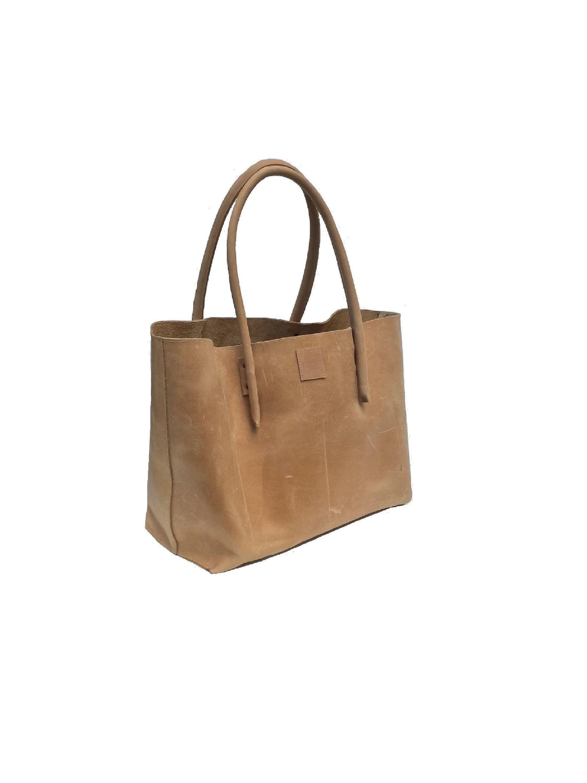 8aed30f84d6ac Big leather bag Bag shopping bag shopper Ledershopper used look vintage-design  handmade