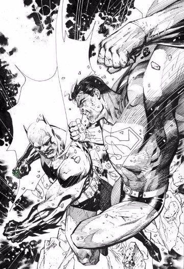 dibujos de batman vs superman para colorear  Super Heroes DC