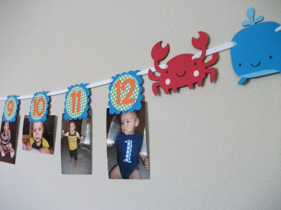 Under the Sea First Birthday Party Photo banner