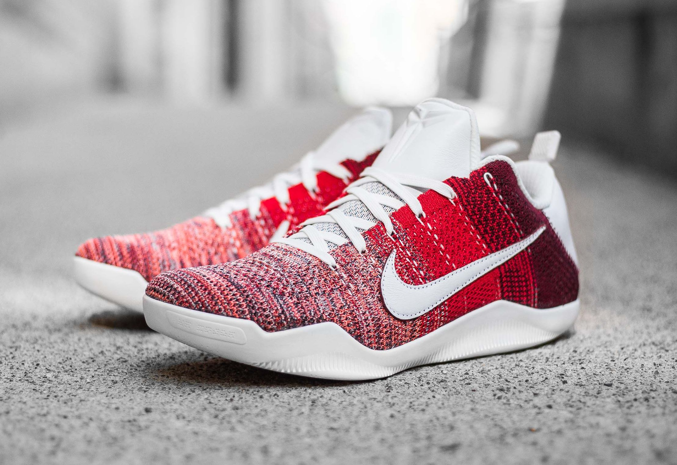 revendeur be3bf 3a12a Nike Kobe 11 Elite Flyknit Low 4KB 'Red Horse' University ...