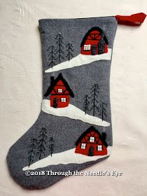 New Pattern—A Cottage Christmas Stocking