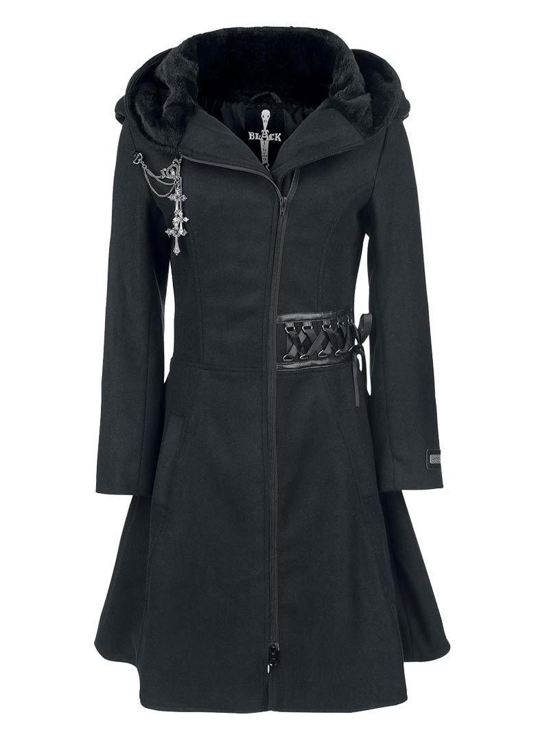 Rock Alchemy Black Manteau Gothique evil Clothing Vêtements PwSqv