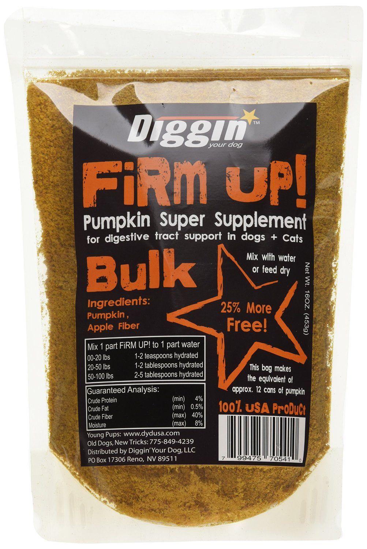Diggin' Your Dog 1 Piece Firm Up Pumpkin Bulk Super