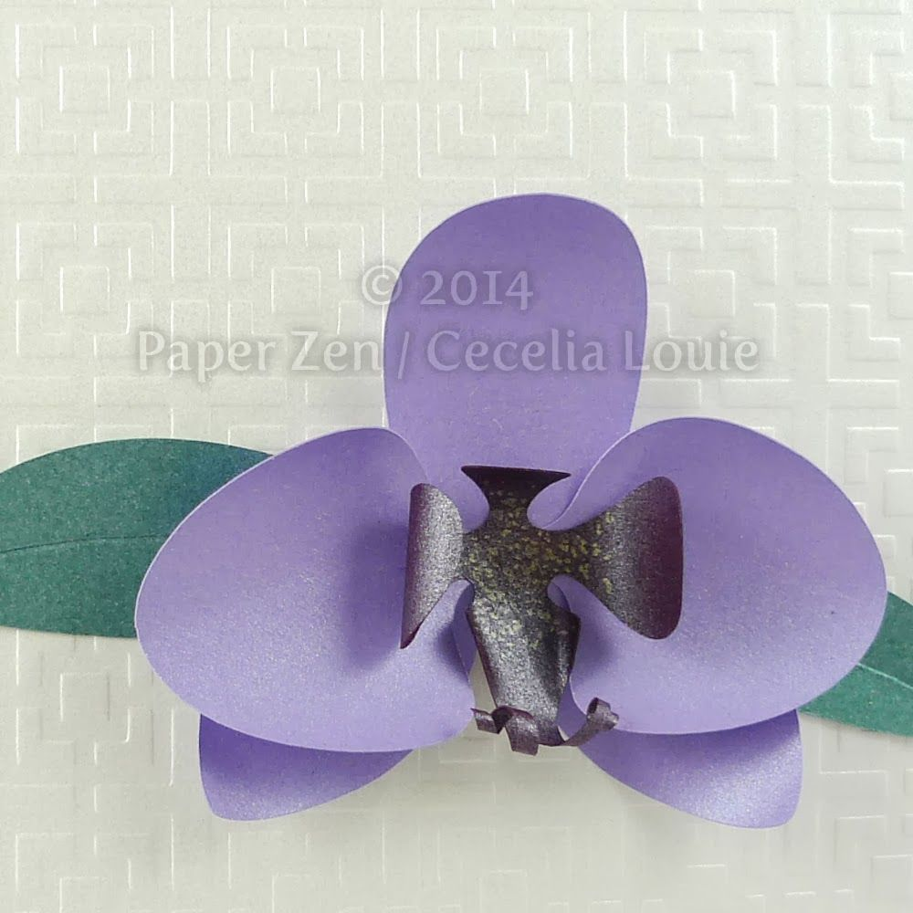 Orchid Background Embossed with Big Shot
