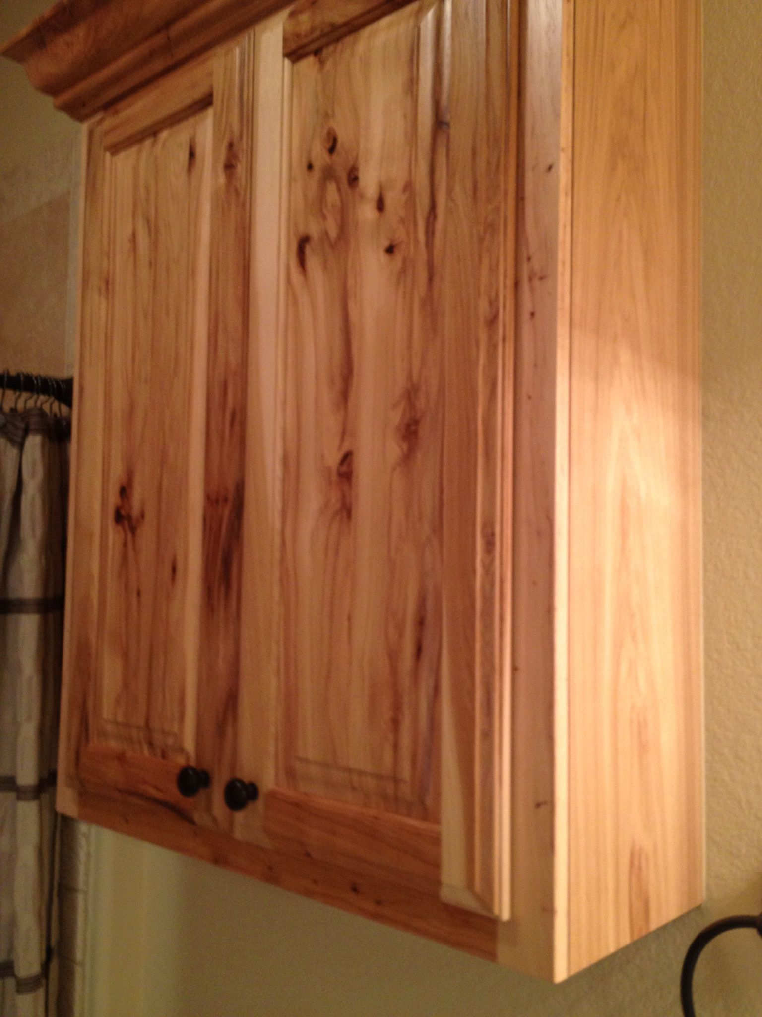 Solid Hickory Cabinets With Clear Coat Hickory Cabinets Clear Coat Basement Remodeling