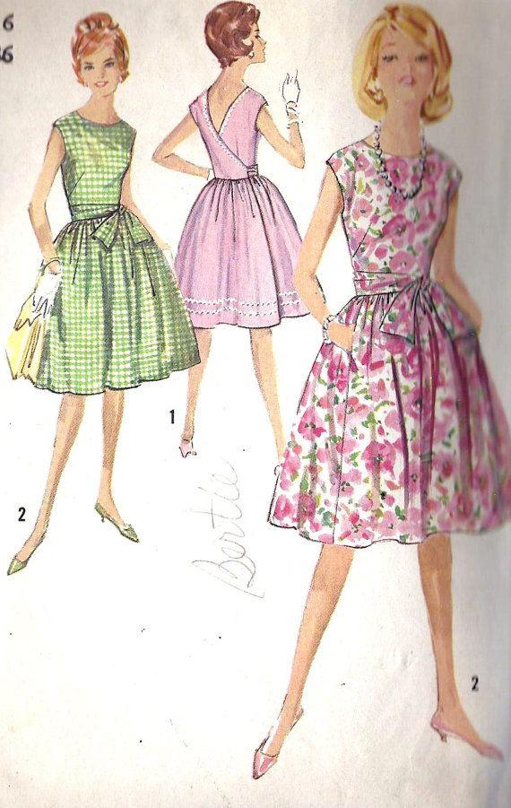 1960s Misses Summer Wrap Around Dress Vintage by MissBettysAttic ...