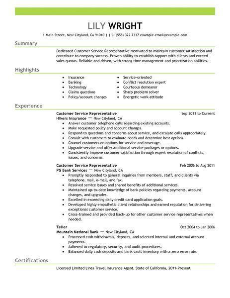 customer service representative resume examples bank ilivearticlesfo