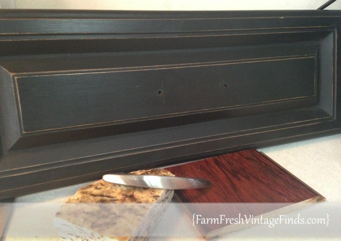 Chalk Paint® Decorative Paint By Annie Sloan In Graphite With A Dark Wax  Topcoat To