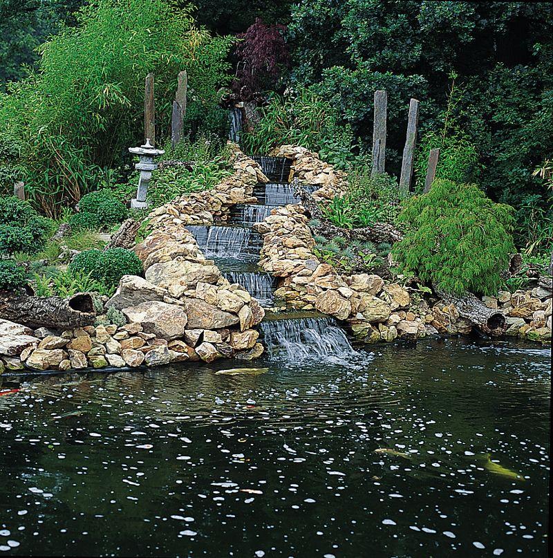 Waterval vijver vijvers vijver en vijver waterval for Natuurlijke vijver maken