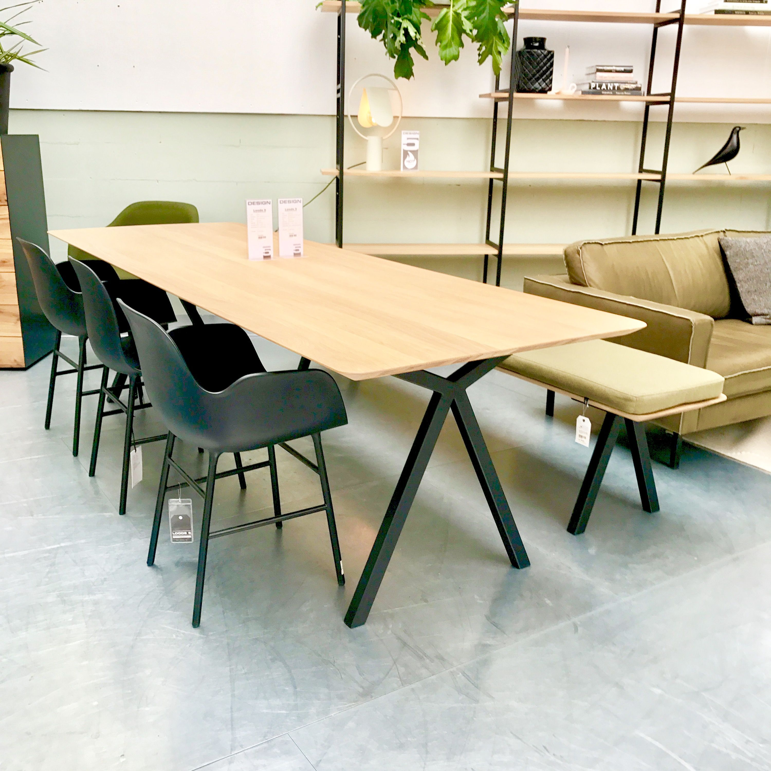 Slim Xdining Table Bench Modular Cabinet Loods Normann - Slim dining table with bench