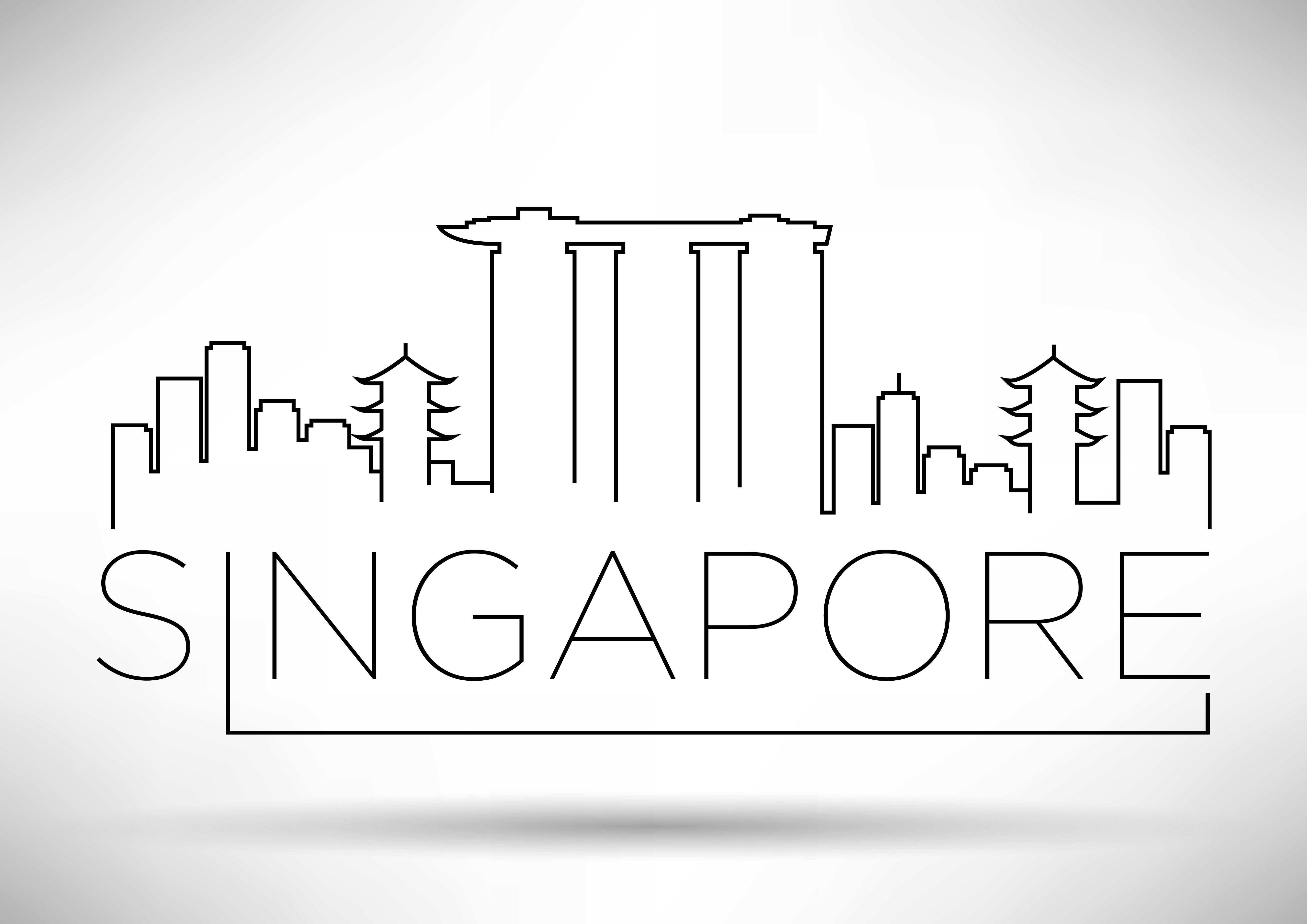 Minimal Singapore Skyline