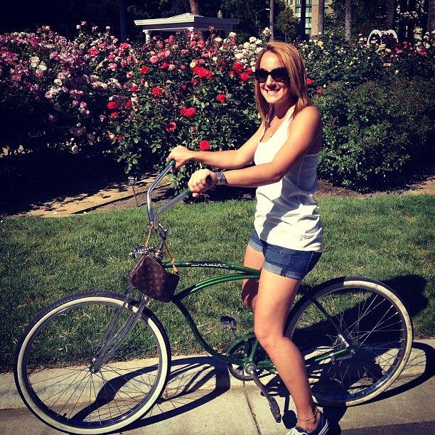 Today's Featured Beachbiker is @renaemichelleabel! #beachbikes #beachcruiser #beachbike