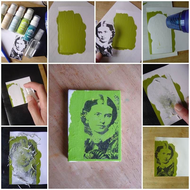 Diy Photo Transfer Using Acrylic Paint Icreativeideas Com Photos Onto Canvas Diy Photo Diy Techniques And Supplies
